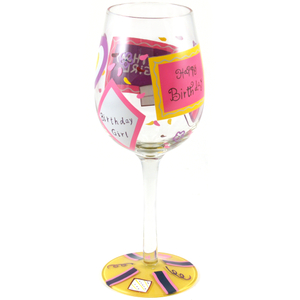 Pink Party Time Birthday Girl Goblet