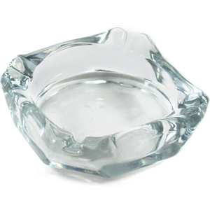 Anchor Hocking Glass Square Ashtray, 3.625 Inch