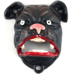 Bulldog Black Cast Iron Mountable Bottle Opener
