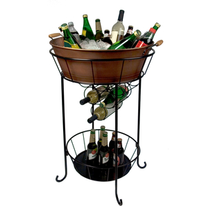Artland Oasis Distressed Antiqued Copper Finish Party Station
