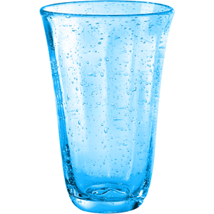 Artland Savannah Turquoise Bubble Glass Highball Tumbler, 18 Ounce