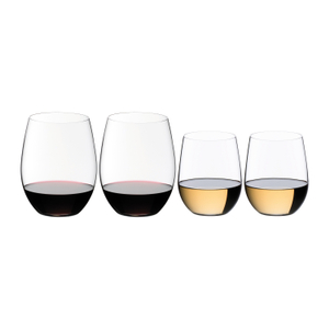 Riedel The O Cabernet/Merlot and Viognier/Chardonnay Wine Tumbler 3+1 Value Gift Set