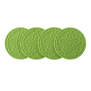 Le Creuset Palm Silicone French Coaster, Set of 4