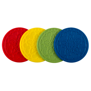 Le Creuset Muli-Color Silicone French Coaster, Set of 4