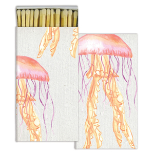 Homart Long Decorative Matches in Watercolor Jellyfish Box