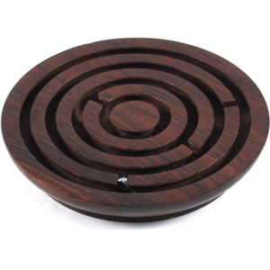 Wood Ball and Maze Game, 6 Inch