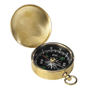 Authentic Models Small Brass Pocket Compass