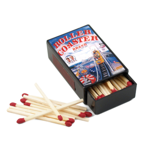 Roller Coaster Brand Ad Slide Match Box with Matches