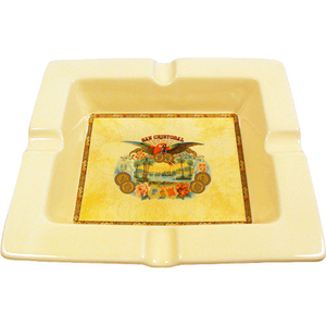 Ashton San Cristobal Rectangular Cream Ceramic Ashtray