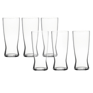 Spiegelau Beer Classics Gift Barrel Lager Glasses, Set of 6