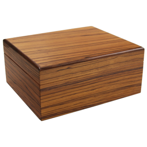 Savoy by Ashton Small Humidor in Zebrawood, 25 Cigar Capacity