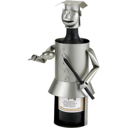 Old Dutch Metal Chef Wine Bottle Holder Buddy