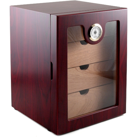 Kingstar Matte Red Walnut 4 Drawer 64 Count Cabinet Humidor