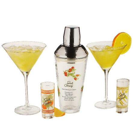 Stoli Five Piece Glass Cocktail Bar 5 Piece Set Glass