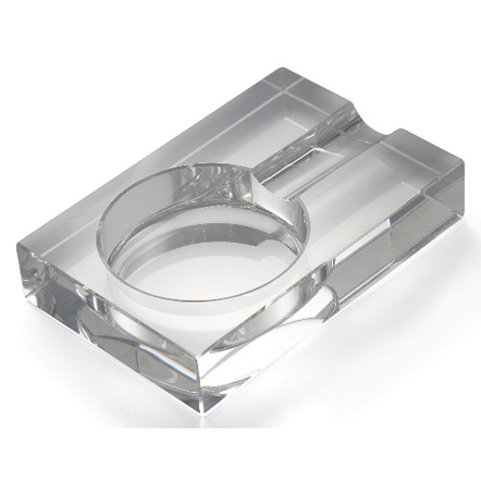 Rectangular Crystal Single Cigar Ashtray
