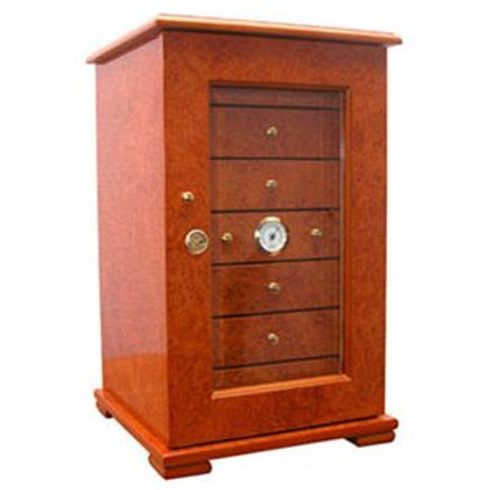 Light Burl Deluxe 7 Drawer Humidor 200 Count