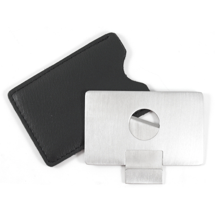 Stainless Steel Credit Card Style Cigar Cutter with Case