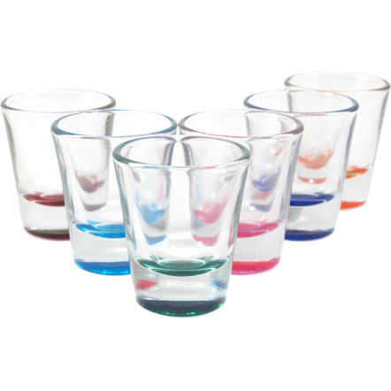 Anchor Hocking Assorted Colors Shot Glass, Set of 6