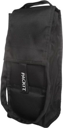 PackIt Black Single Bottle Freezable Wine Bag