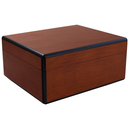 Savoy by Ashton Small Humidor in Pearwood, 25 Cigar Capacity