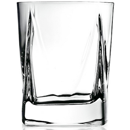 Luigi Bormioli Alfieri Double Old Fashioned Glass, Set of 4
