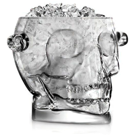 Final Touch Glass Brain Freeze Skull Ice Bucket