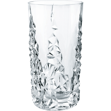 Nachtmann Sculpture Leaded Crystal Long Drink Glass, Set of 2