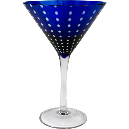 Artland Cambria Cobalt Martini Bar Glass, 8 Ounce