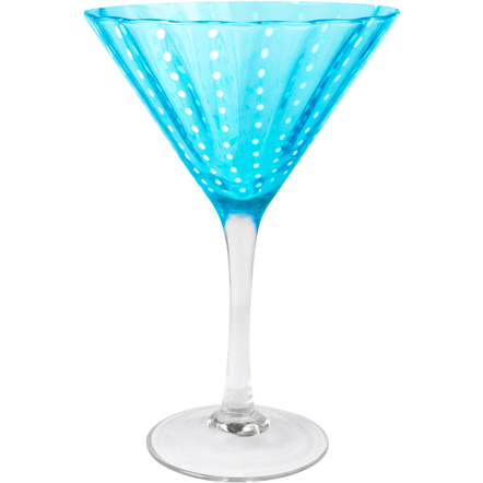 Artland Cambria Turquoise Martini Bar Glass, 8 Ounce