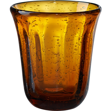 Artland Savannah Amber Bubble Double Old Fashion Glass, 10 Ounce