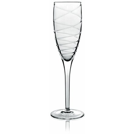 Luigi Bormioli Incanto 6.75 Ounce Champagne Flute, Set of 4