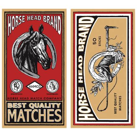 Homart Long Decorative Matches In Horse Head Brand Box