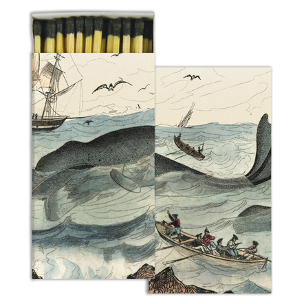 Homart Long Decorative Matches in Whale Box