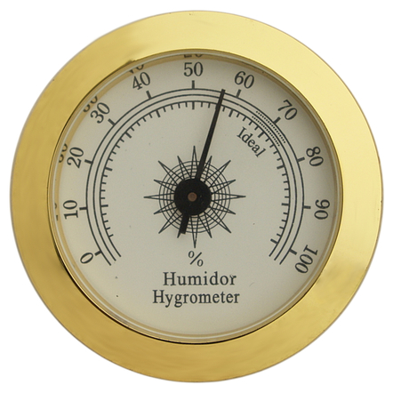 Brass Finish Analog Hygrometer Humidity Gauge