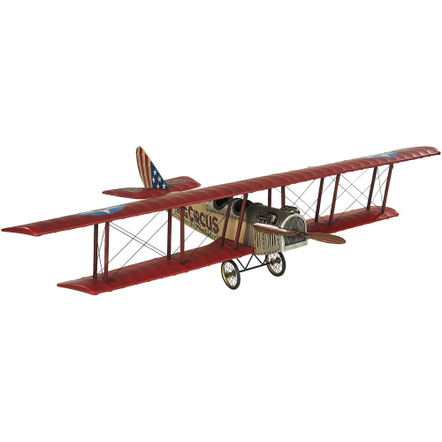 Authentic Models Medium Size Beige Flying Circus Jenny JN-7H Barnstormer Model Airplane
