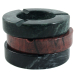 Solid Marble Red Oversized Three Cigar Ashtray