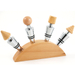 Die Cast and Wood Bottle Stopper Set with Base