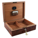 Dolce Sogni Elm & Burl Inlay Cigar Humidor 75 Count