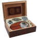 Dark Burl Cigar Humidor and Humidifier Set, 15 Cigar Capacity