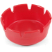 Ges Red Plastic Cigarette Ashtray with 8 Notches, 4 Inch