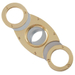 Unique Gold & Steel 2 Blade Cigar Cutter in Gift Box
