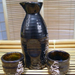 Japanese Sake Stoneware Wine Pot & Cups, 3 Piece Set