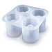 Fred and Friends Cool Shooters Silicone Shot Glass Ice Tray, 5 Inch