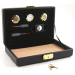 Black Leather Travel Cigar Humidor with Accessories