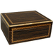 Black Walnut Cigar Humidor With Inlay