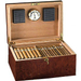 Rich Burl Venetian 100CT Lockable Cigar Humidor