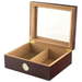 Cherry Wood 50 Count Glass Top Cigar Humidor with Front Mount Hygrometer