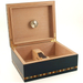 Indigo Blue Birdseye Maple Inlay Cigar Humidor 50 Count
