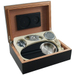 Black 6 Piece Cigar Humidor Gift Set 15 Count