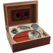 Walnut 6pc Cigar Humidor Gift Set 15 Count